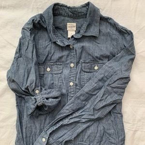 J crew women's chambray button up
